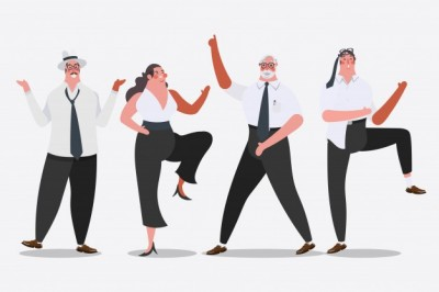 party cartoon-character-design-illustration-business-team-dancing-at-the-party-celebrate-success_1362-123